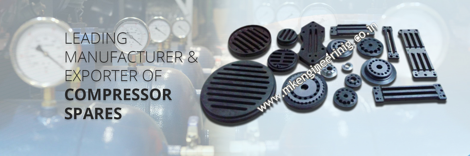 Leading Manufacturer and Exporter of Compressor Spares in Ahmedabad